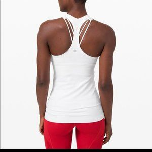LULULEMON WHITE RACERBACK TANK TOP ~ 4 ~